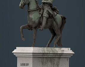 Equestrian statue of Louis XIV 3D