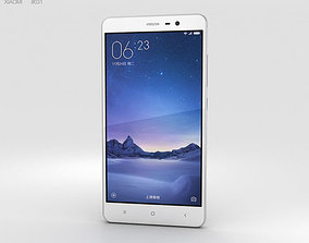 3D model Xiaomi Redmi Note 3 Silver