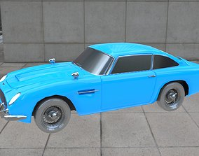 3D model game-ready Aston Martin DB5