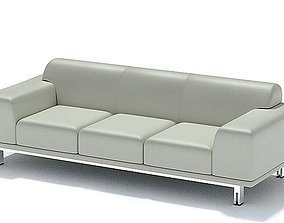 3D Modern Grey Couch