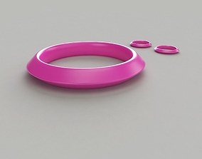 circlet 3D print model Bangle-Earrings