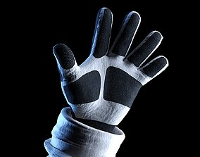 Space Gloves Rigged Shaded and ready for Render 3D