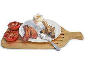 Breakfast Eggs and Bacon 3D