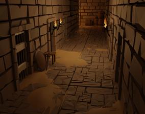3D asset Dungeon tile set
