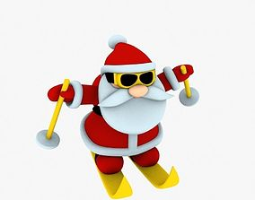 New cool Santa Claus for beautiful 3d print 04 red