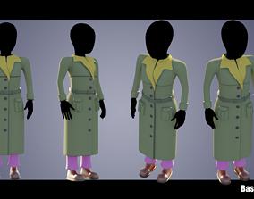 3D model Base Woman Clothing 02