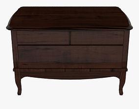Wooden Side Table 3D asset