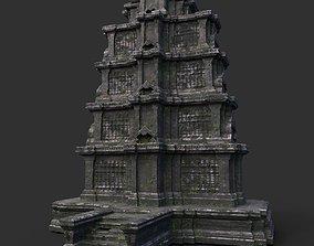 3D asset Ruin Ancient Temple - Khmer Architecture B 06