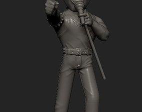 Freddie Mercury cartoon statue 3D printable model