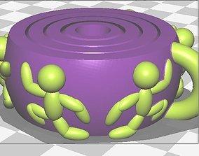 3D printable model Gyro Keyring Dual Extruder