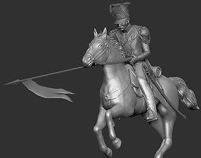 1st Empire Lancer charging - Napoleon 3D printable model