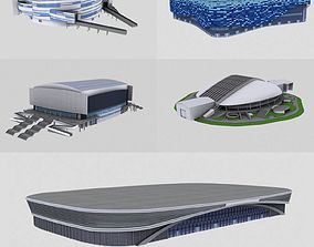 3D model five stadiums