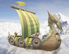 Viking Ship Fortified 3D model