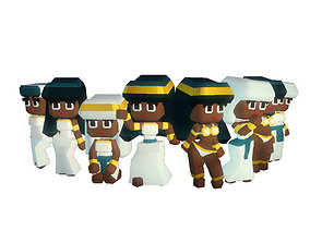 Egyptian Town People - Smashy Craft Series 3D
