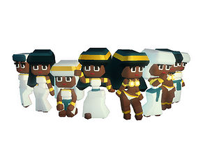 3D model Egyptian Town People - Smashy Craft Series