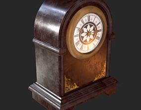 Retro Vintage Table Clock PBR 3D model