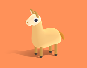 Lolly the Llama - Quirky Series 3D asset