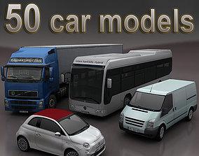 VR / AR ready cars mega pack 50 items 3D Models