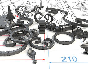 Wrought iron elements 3D model