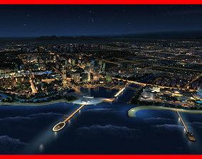 3D model Modern City Animated 001