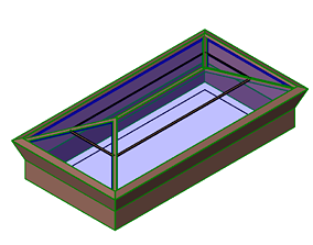 3D model Pyramid shaped Skylight