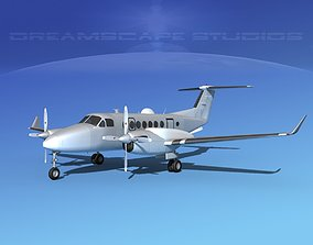 Beechcraft MC-12W Liberty Bare Metal 3D model