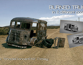 Burned Truck Wreck 3D