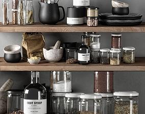 kitchen decor set 03 3D model