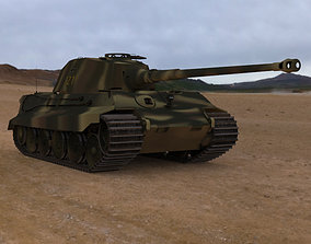 3D model King Tiger WWII Tank