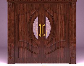Maral wooden lobby door 3D model