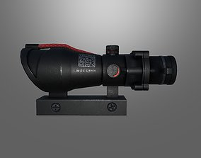 3D asset 4x scope game ready
