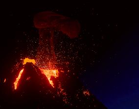 Volcano Eruption 3D model