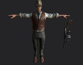mafia man animated gameready realistic model animated