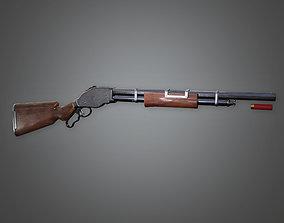 WES - FPS Western Pump Shotgun - Vaquero - PBR 3D model 1