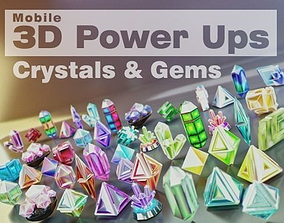 Crystals Diamonds and Gems Pack 3D model