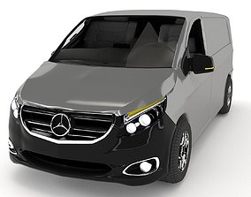 3D model animated Mercedes-Benz Vito