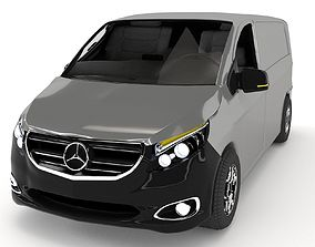 Mercedes-Benz Vito 3D model animated