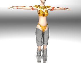 3D Ancient Roman Greek Female Warrior