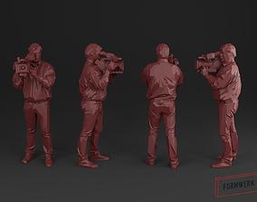 Camera man 03 - Low Poly printable 3D model realtime
