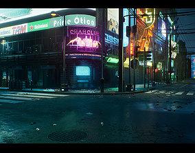 3D model Cyberpunk City Recife Environment