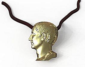 Julius Caesar pendant 3D printable model