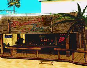 3D model Beach Bar Game Ready PACK