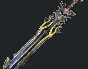 Fantasy sword 18 3d model low-poly