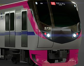 VR / AR ready KEIO 5000 Commuter Train 3D Model