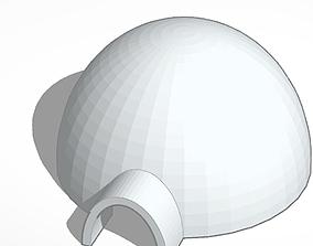 Igloo 3D print model dome
