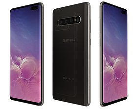 3D model Samsung Galaxy S10 Plus Prism Black