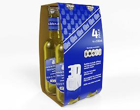 food 4 pack beer carrier 330ml 3D