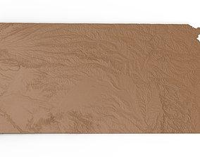 3D print model Kansas Relief Map