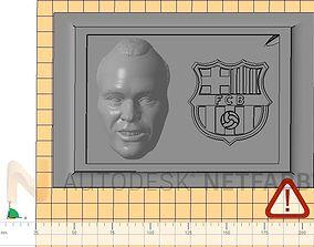 Andres Iniesta - FC Barcelona - 3D print ready frame