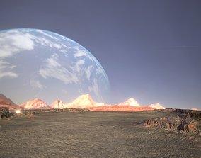 game-ready Desert Landscape Low-poly 3D model PBR